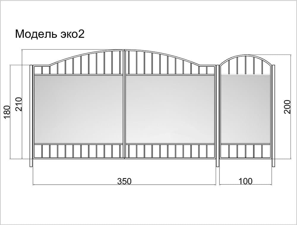 Ворота из профлиста своими руками чертежи и расчет на гараж