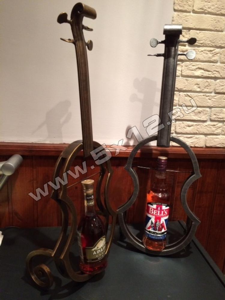 кованые держатели бутылок, в виде скрипки