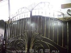 Готовые к монтажу кованые патинированные ворота